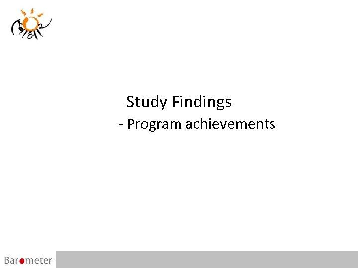 Study Findings - Program achievements 16