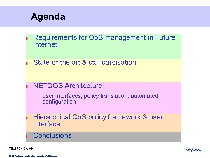 Agenda Requirements for Qo. S management in Future Internet State-of-the art & standardisation NETQOS
