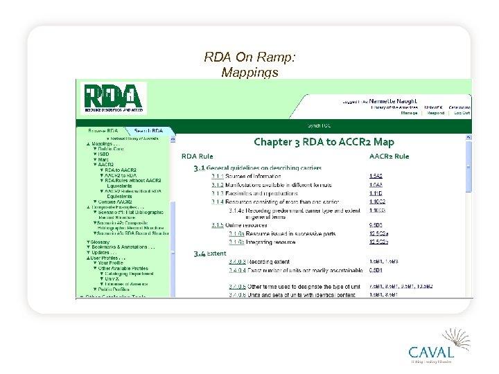 RDA On Ramp: Mappings