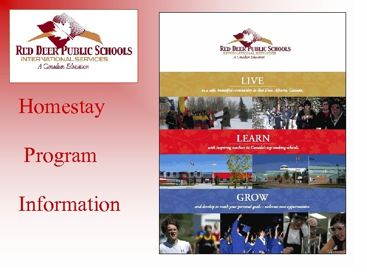 Homestay Program Information