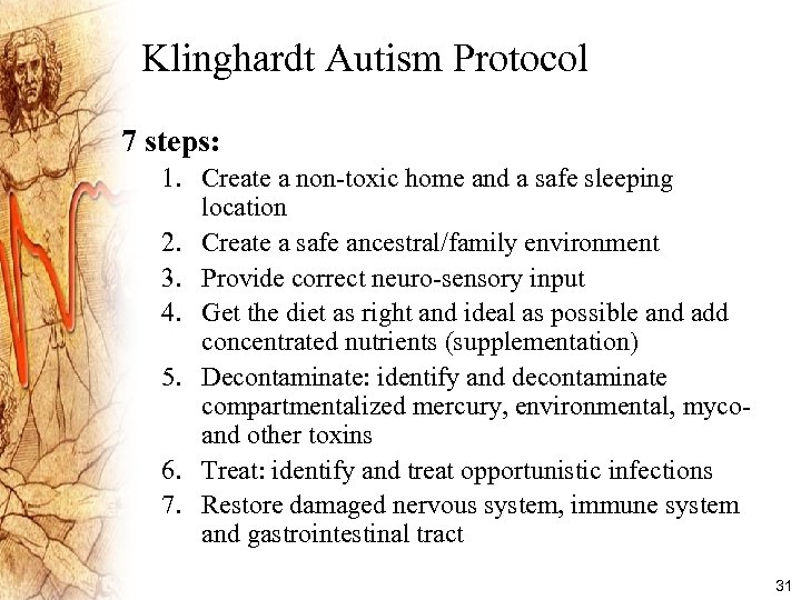 A Treatment Protocol for Autistic Spectrum Disorders ASD