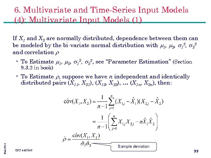6. Multivariate and Time-Series Input Models (4): Multivariate Input Models (1) If X 1
