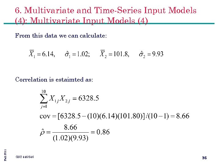 6. Multivariate and Time-Series Input Models (4): Multivariate Input Models (4) From this data