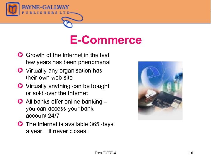E-Commerce Z Growth of the Internet in the last few years has been phenomenal