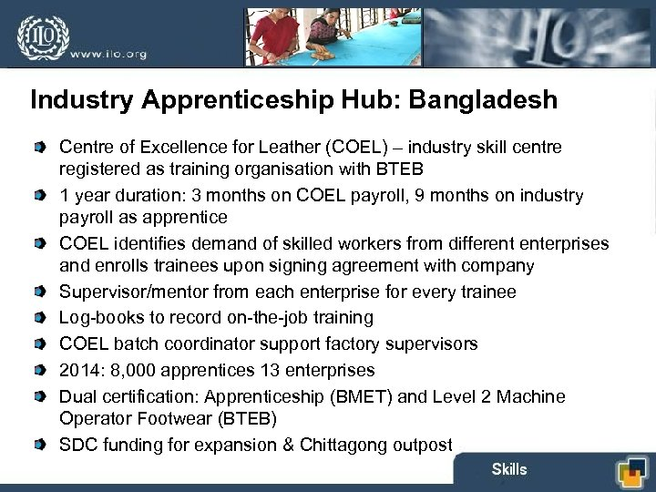 Industry Apprenticeship Hub: Bangladesh Centre of Excellence for Leather (COEL) – industry skill centre