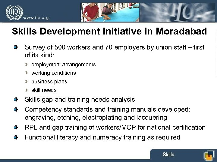 Skills Development Initiative in Moradabad Skill Need Assessment Survey of 500 workers and 70