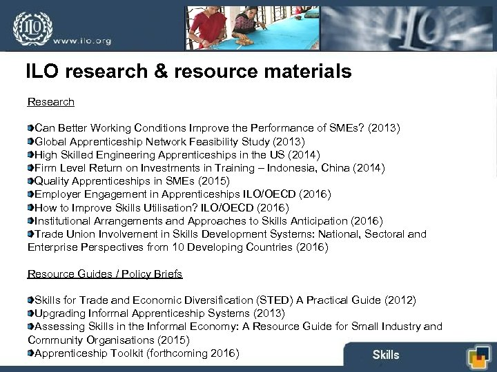 ILO research & resource materials Research Can Better Working Conditions Improve the Performance of
