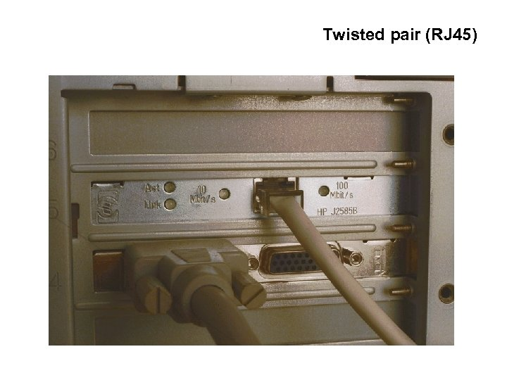 Twisted pair (RJ 45)