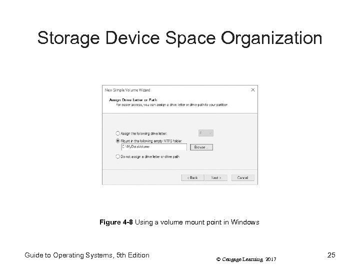 Storage Device Space Organization Figure 4 -8 Using a volume mount point in Windows