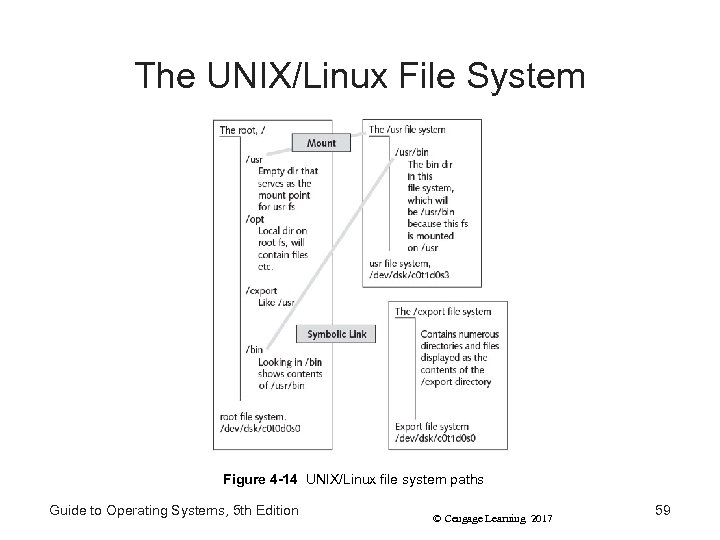 The UNIX/Linux File System Figure 4 -14 UNIX/Linux file system paths Guide to Operating