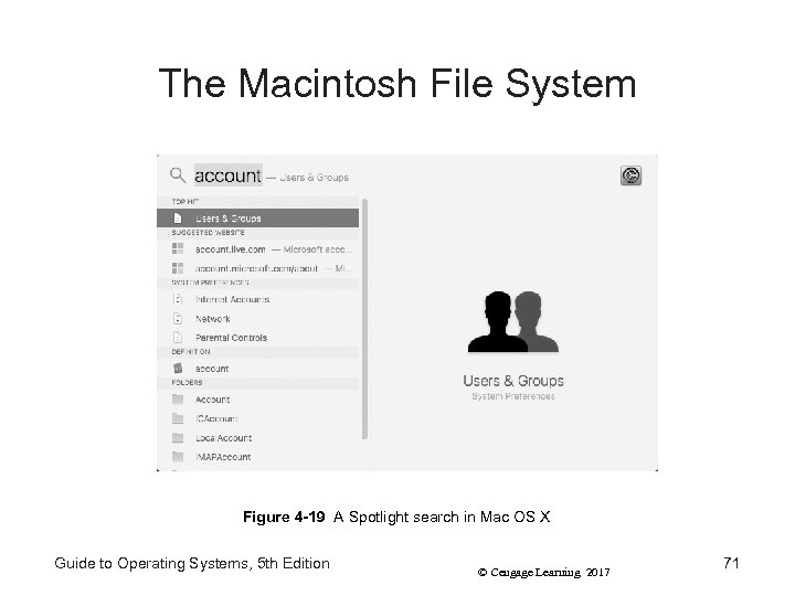 The Macintosh File System Figure 4 -19 A Spotlight search in Mac OS X