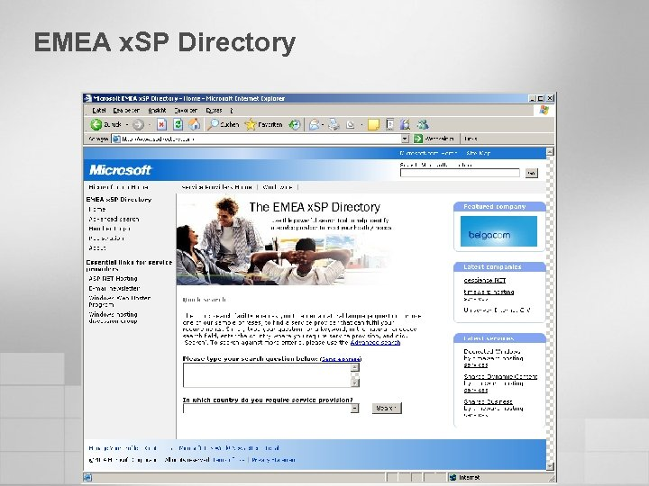 EMEA x. SP Directory