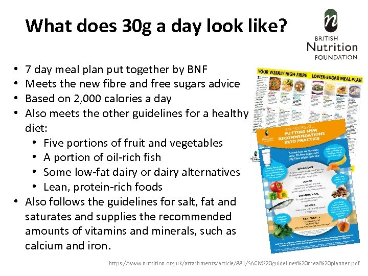 What does 30 g a day look like? 7 day meal plan put together