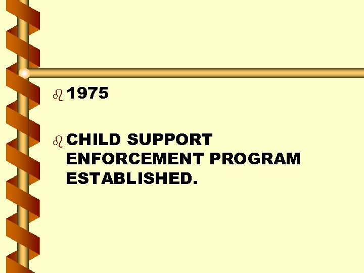 b 1975 b CHILD SUPPORT ENFORCEMENT PROGRAM ESTABLISHED.