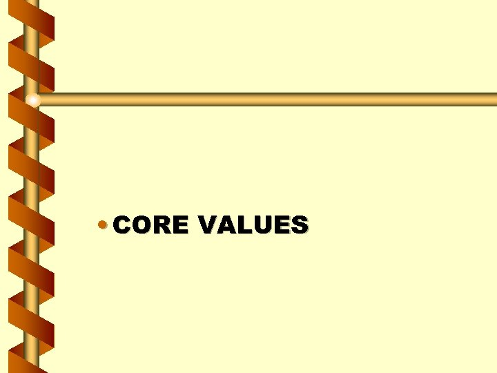 • CORE VALUES