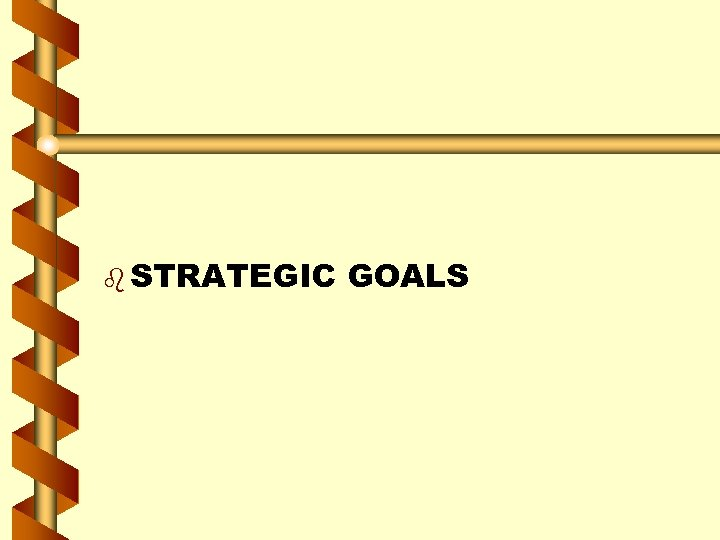 b STRATEGIC GOALS
