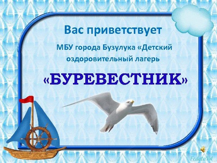Вас приветствует МБУ города Бузулука «Детский оздоровительный лагерь «БУРЕВЕСТНИК»