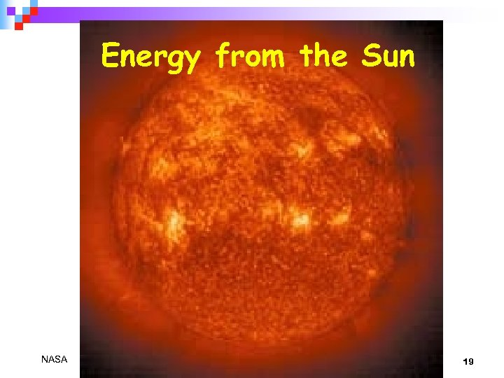 Energy from the Sun NASA 19
