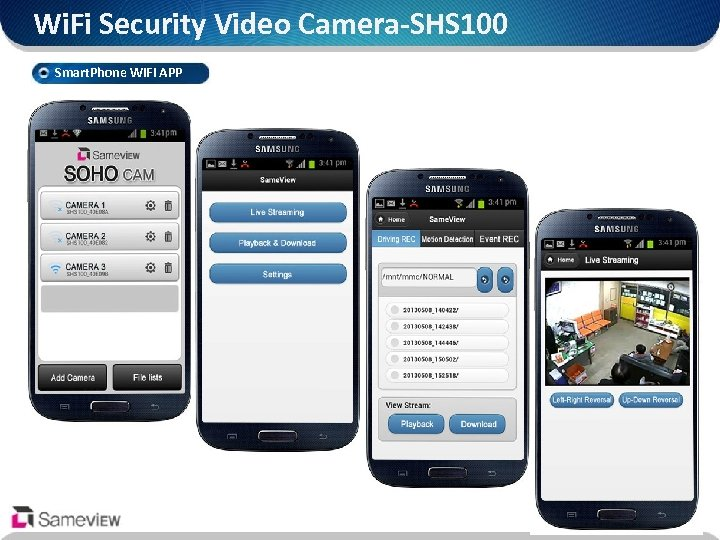Wi. Fi Security Video Camera-SHS 100 Smart. Phone Wi. Fi APP