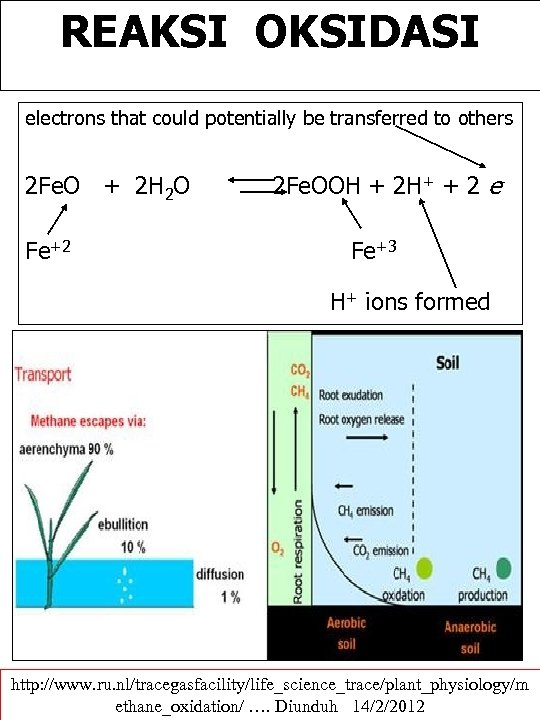 REAKSI OKSIDASI electrons that could potentially be transferred to others 2 Fe. O +