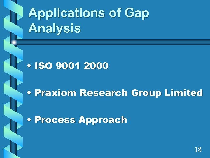Applications of Gap Analysis • ISO 9001 2000 • Praxiom Research Group Limited •