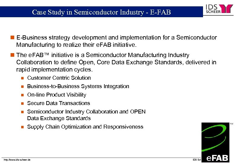 Chartered Semiconductor Manufacturing -- E-FAB Case Study in Semiconductor Industry e. FAB n E-Business