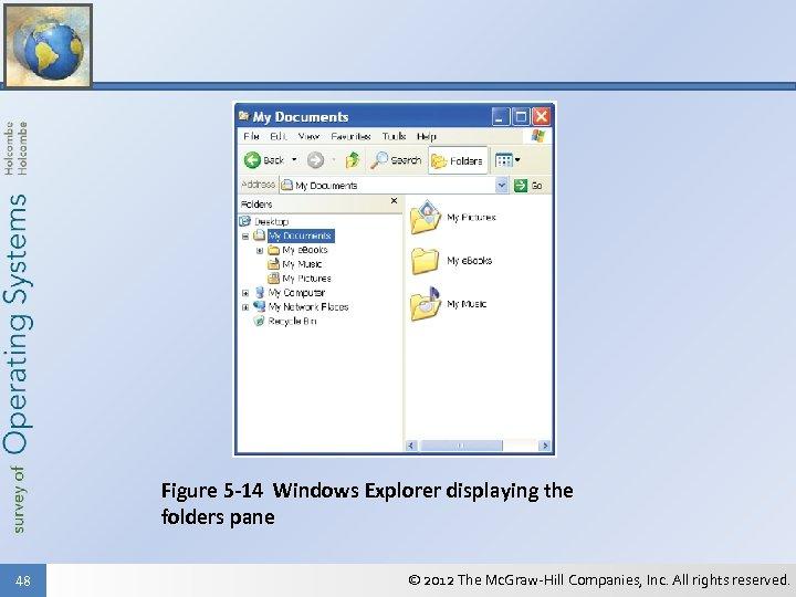 Figure 5 -14 Windows Explorer displaying the folders pane 48 © 2012 The Mc.