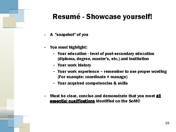 Resumé - Showcase yourself! - A