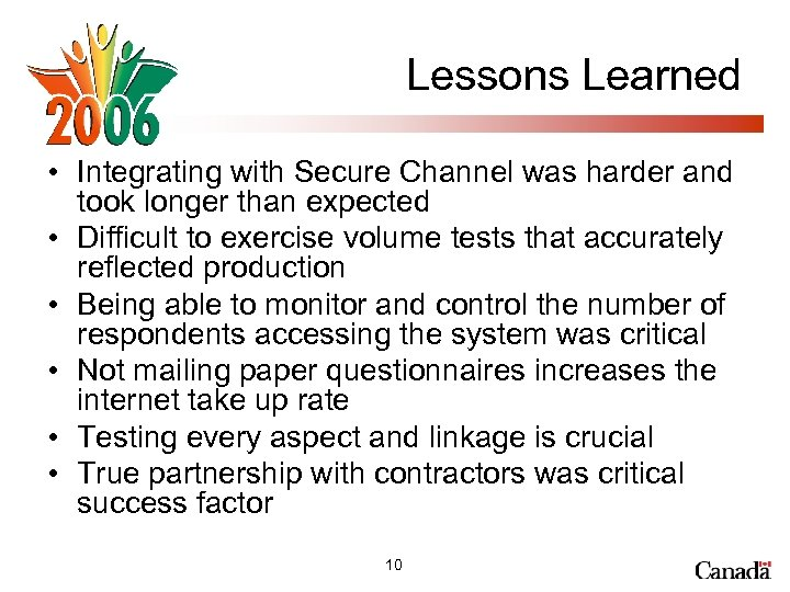 Lessons Learned • Integrating with Secure Channel was harder and took longer than expected