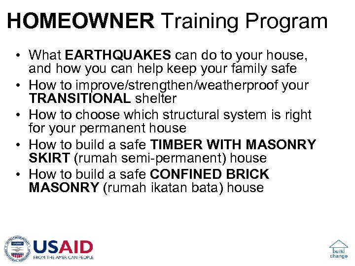 HOMEOWNER Training Program • What EARTHQUAKES can do to your house, and how you