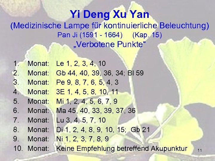 Yi Deng Xu Yan (Medizinische Lampe für kontinuierliche Beleuchtung) Pan Ji (1591 - 1664)