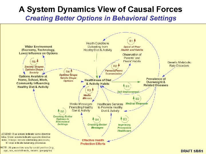 A System Dynamics View of Causal Forces Creating Better Options in Behavioral Settings Syndemics