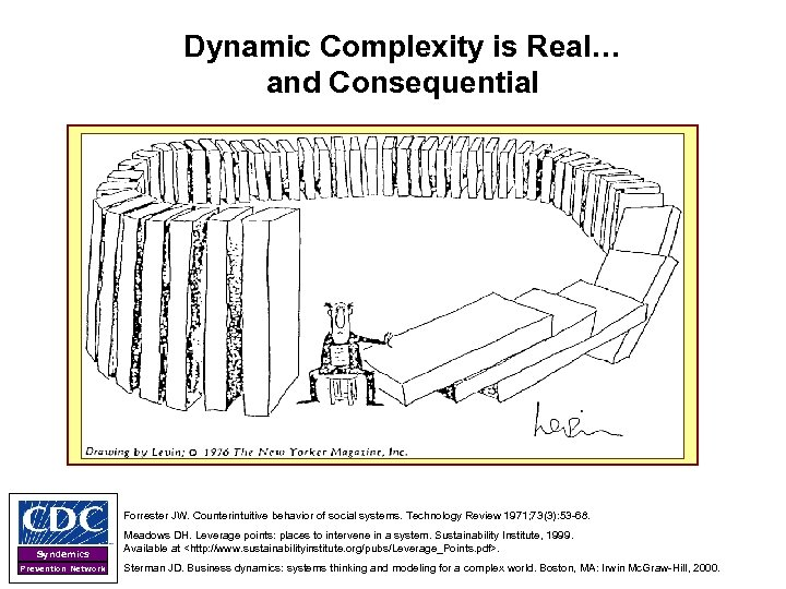 Dynamic Complexity is Real… and Consequential Forrester JW. Counterintuitive behavior of social systems. Technology