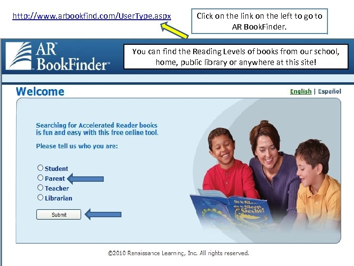 http: //www. arbookfind. com/User. Type. aspx Click on the link on the left to
