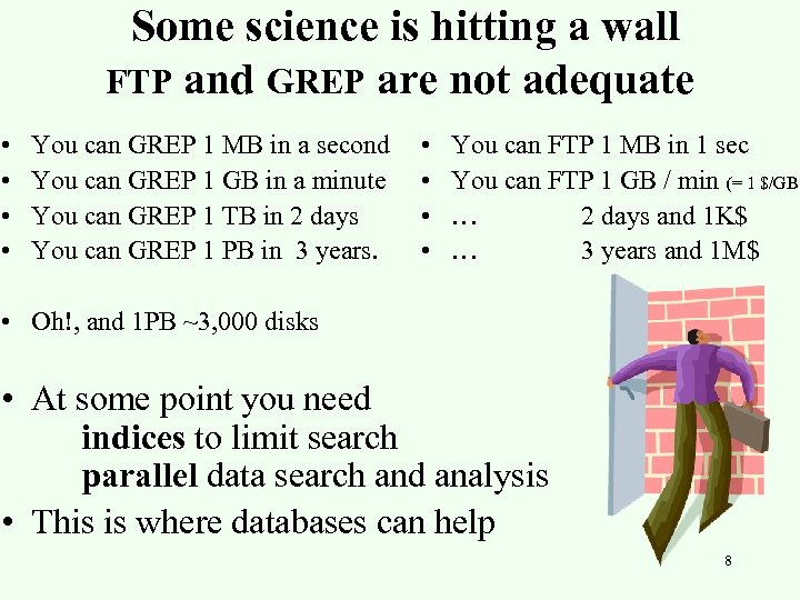 Some science is hitting a wall FTP and GREP are not adequate • •