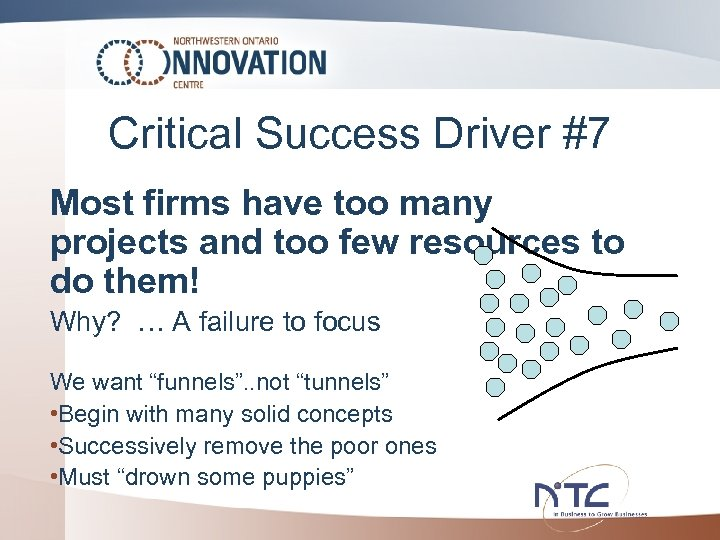 Critical Success Driver #7 Most firms have too many projects and too few resources