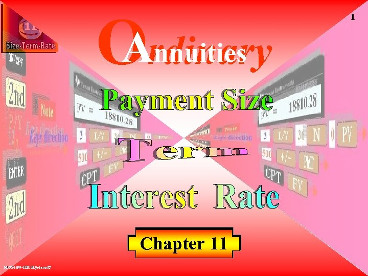 11 Annuities Ordinary Chapter 11 Mc. Graw-Hill Ryerson© 1