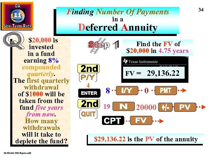 11 Finding Number Of Payments in a Deferred Annuity $20, 000 is invested in