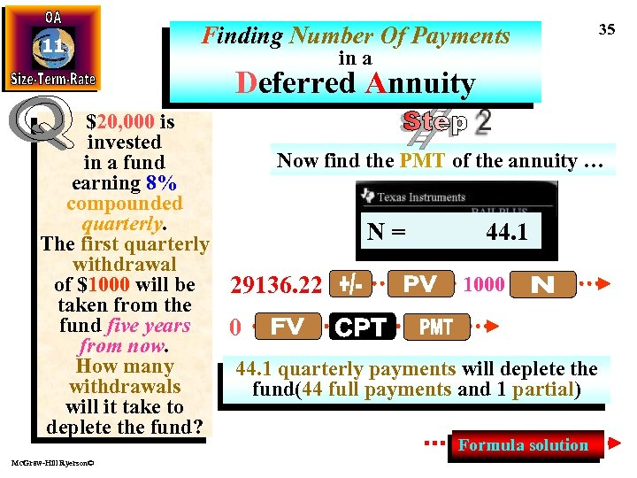 11 Finding Number Of Payments 35 in a Deferred Annuity $20, 000 is invested