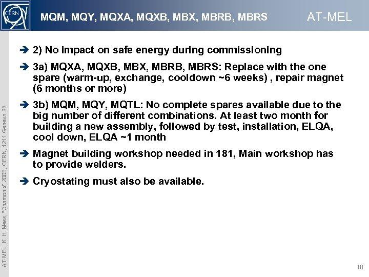 MQM, MQY, MQXA, MQXB, MBX, MBRB, MBRS AT-MEL è 2) No impact on safe