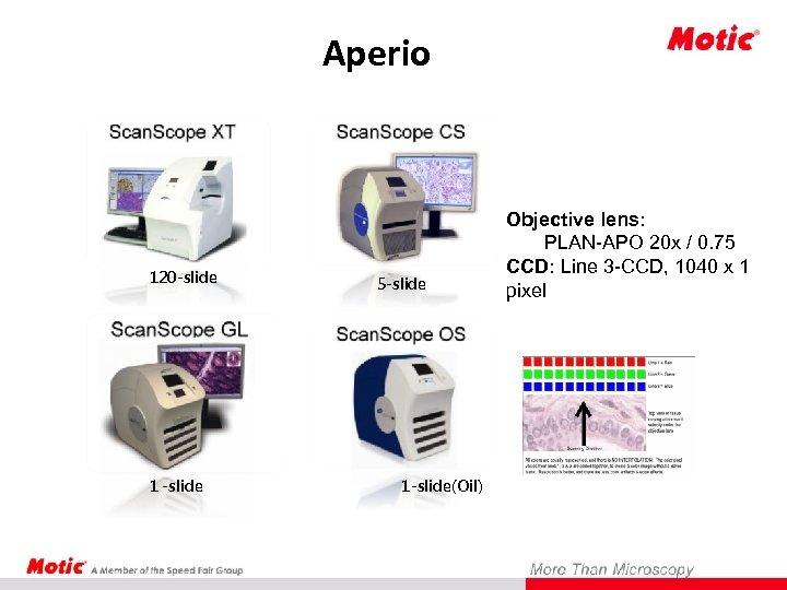 Aperio 120 -slide 1 -slide 5 -slide 1 -slide(Oil) Objective lens: PLAN-APO 20 x