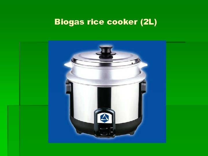 Biogas rice cooker (2 L)