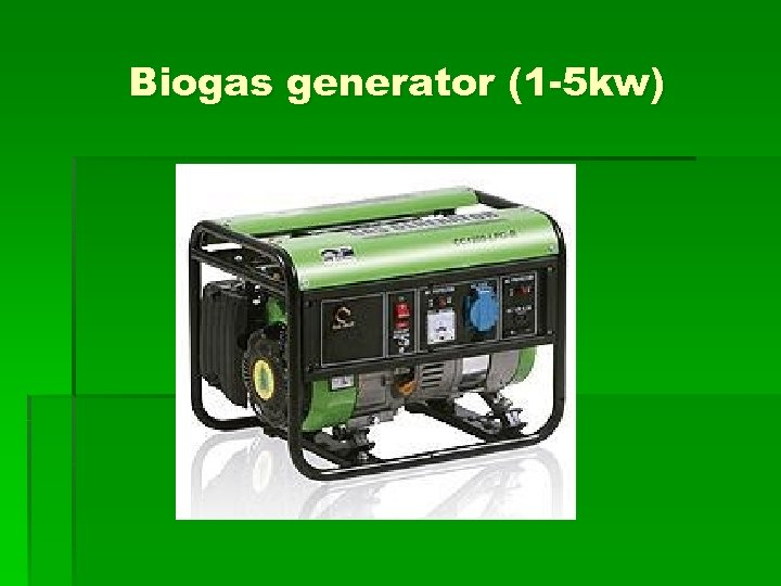 Biogas generator (1 -5 kw)