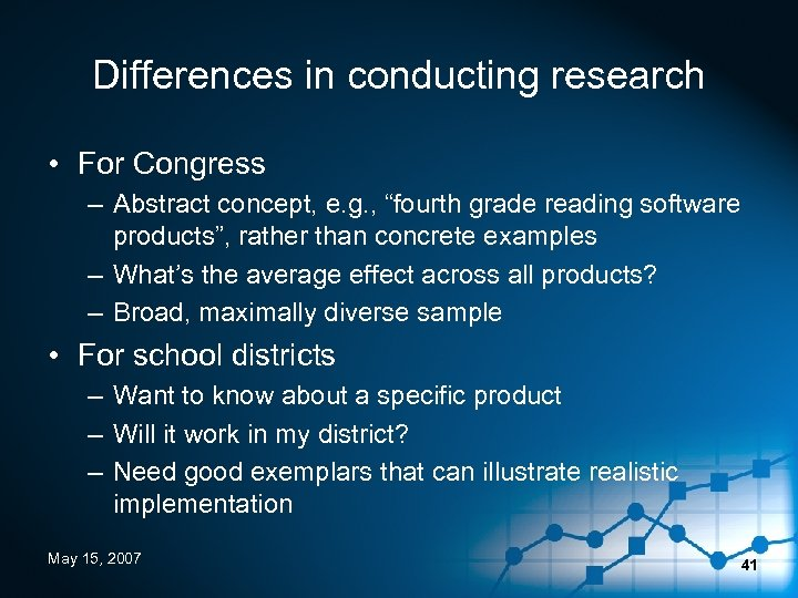 "Differences in conducting research • For Congress – Abstract concept, e. g. , ""fourth"