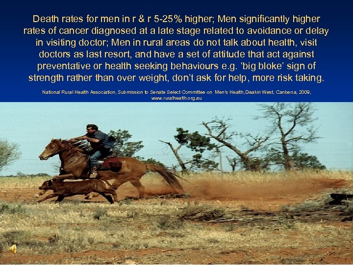 Death rates for men in r & r 5 -25% higher; Men significantly higher
