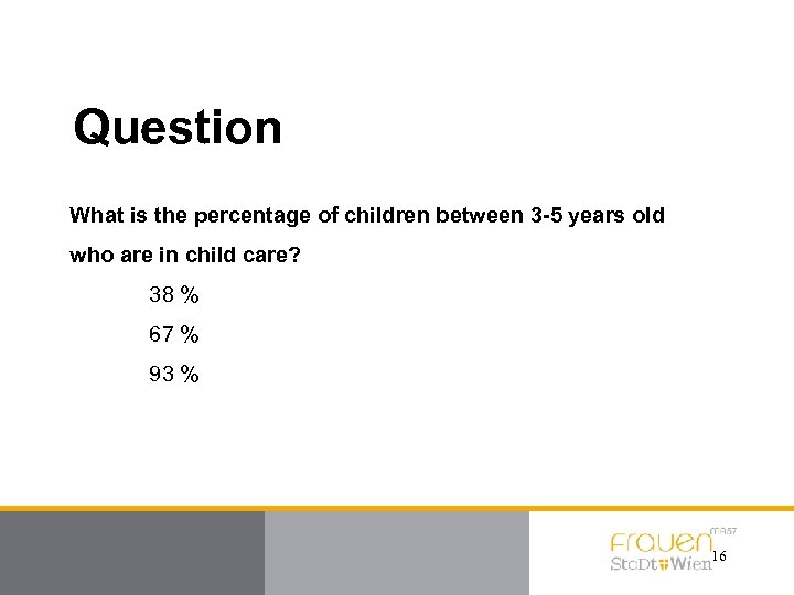 Question What is the percentage of children between 3 -5 years old who are