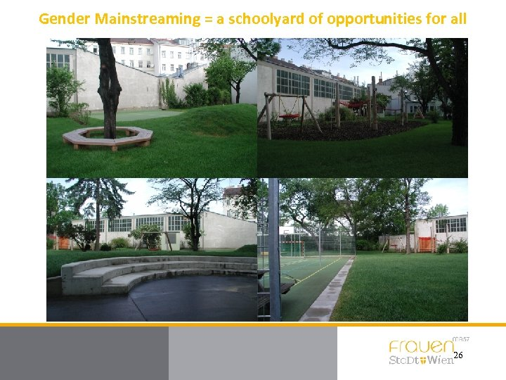 Gender Mainstreaming = a schoolyard of opportunities for all 26