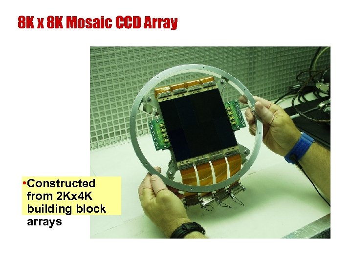 8 K x 8 K Mosaic CCD Array • Constructed from 2 Kx 4