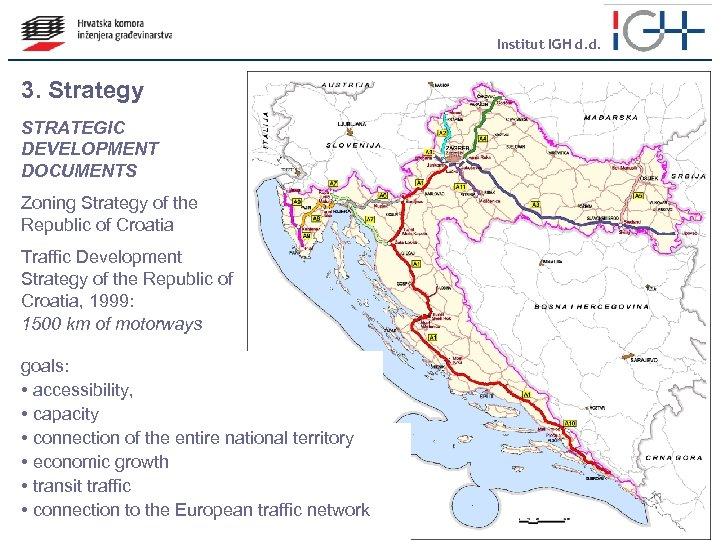 Institut IGH d. d. 3. Strategy STRATEGIC DEVELOPMENT DOCUMENTS Zoning Strategy of the Republic