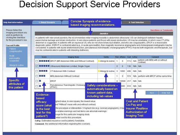 Decision Support Service Providers